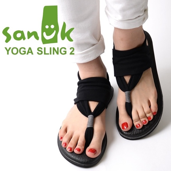 cda725cb3e67db Sanuk Yoga Sling 2 Black Yoga Mat Sandals Size 8. M_5ac13cae05f43092edb17c2a